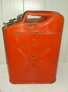 Vintage Usmc Red 5 Gal Jeep Gas Can Dot 5l 20 5 69 Us Willys Jerry Can Nice