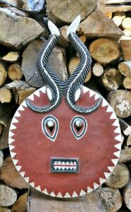 20th Century Baule Goli Authentic African Ceremonial Mask Large 28 1 2