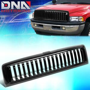 For 1994 2002 Dodge Ram 1500 2500 3500 Glossy Badgeless Vertical Grille Grill