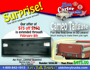 1955 1956 1957 1958 Gmc Suburban Pickup And Cameo Tailgate New