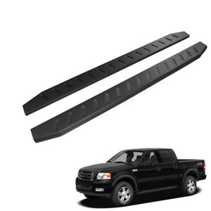 78 Black Raptor Running Boards For 04 08 Ford F150 Super Crew Cab Side Steps