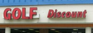Large Outdoor golf Discount Shop Channel Letter Neon Lighted Store Sign