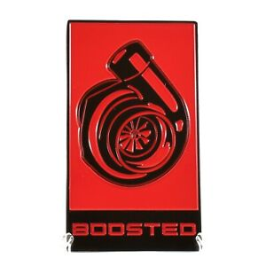 2015 2020 Mustang Boosted Badge Gt350 Ecoboost Emblem All Metal Epoxy Coated