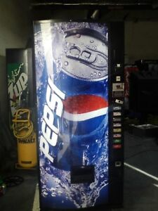 Pepsi Soda Vending Machine Dixie Narco Bubble Front 440 8 With Bill Acceptor