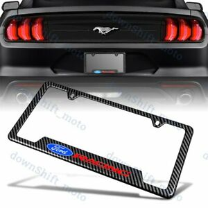 X1 For Ford Carbon Fiber Look License Plate Frame Abs New