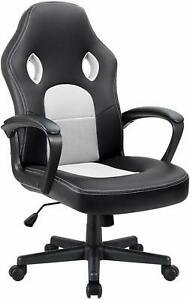 Office Chair Desk Leather Gaming Chair High Back Ergonomic Adjustable