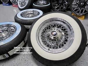 Buick Lesabre Electra 225 15 Chrome Wire Spoke Wheels Whitewall Tire Set 4 New