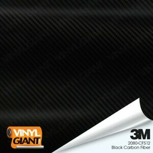 3m 2080 Cfs12 Black Carbon Fiber Vinyl Vehicle Car Trim Wrap Film Sheet Roll