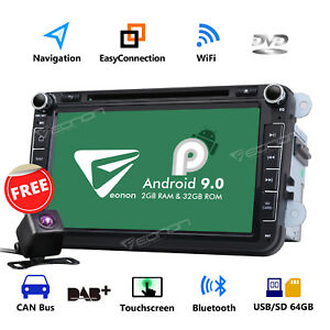 Cam ga9353 Android 9 0 8 car Stereo Gps Navigation Radio Wifi Dvd For Volkswagen