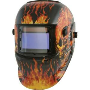 Welding Helmet Welder Mask Auto darkening Solar Powered Glass Lens Shield New