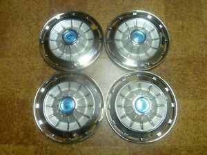 Vintage 1962 Chevy 327 Impala Belair Biscayne Hubcaps Wheel Covers