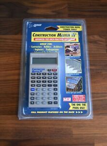 New Construction Master Iv Calculator 4045 Complete Set Case Manual Sealed