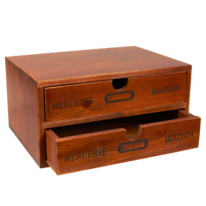 Juvale Small Wood Desktop Organizer Storage Box With Drawers French Design