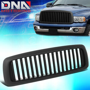 For 2002 2005 Dodge Ram 1500 2500 3500 Matte Badgeless Vertical Style Grille