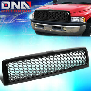 For 1994 2002 Dodge Ram 1500 3500 Glossy Black Mesh Front Bumper Grille Grill