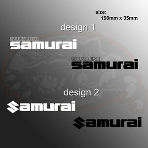 Suzuki Samurai Logo Vinyl Decal Offroad Sticker Car Styling Window Bumper
