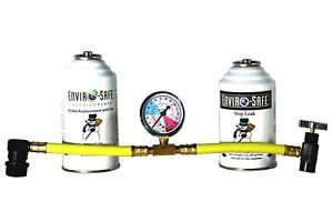 Enviro Safe Stop Leak 1 R134a Replacement With Dye Kit R134 Tap Gauge Rsg 3