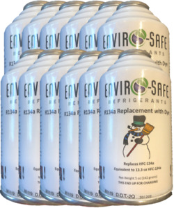 Enviro Safe R134a Replacement Refrigerant With Dye Case Of 12 Cans