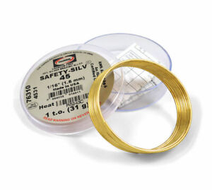 Silver Brazing Alloy 45 Silver 1 16 1 Troy Ounce Cadmium Free