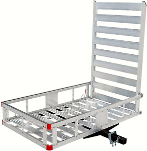 Maxxhaul 80779 Aluminum Hitch Mount Cargo Carrier With 47 Long Ramp