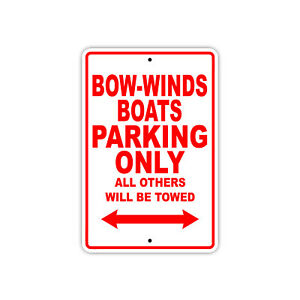 Bow winds Boats Parking Only Boat Ship Notice Decor Novelty Aluminum Metal Sign