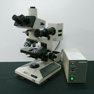 Olympus Microscope Bh2 With Fluorescence And Superwide Trinocular Head