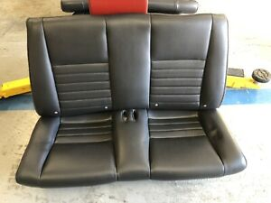 99 04 Mustang Convertible Charcoal Leather Rear Seat Oem Gt
