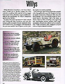 1949 Willys Jeep Cj 2a Jeepster Woody Station Wagon Article Must See