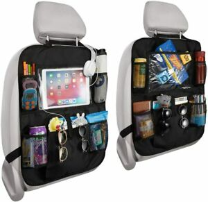 Multi purpose Car Back Seat Organizer Foldable With Touch Screen Tablet Holder