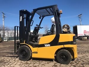 Yale 5000 Pound Pneumatic Tired Forklift we Will Ship lpg 2006 lifts Over 16feet