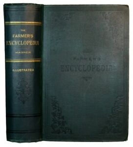 Farm Guide Antique 1898 Illustrated Horse Barn Cow Cattle Pig Bees Tools Cookery