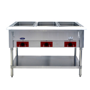 Atosa Cstea 3b Cookrite 3 Open Well 120v Electric Steam Table