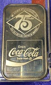 Rare 1977 Coca Cola Louisville Limited Mint Silver 1 oz. Bar Mint .999 Fine
