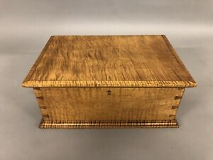 Bench Made Tiger Maple Documents Box 6 1 2 X 16 X 11