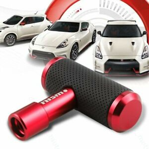 For Nismo Leather Car Shift Knob Aircraft Joystick Transmission Racing Gear Red
