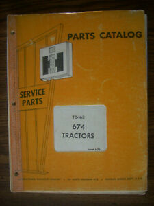 Ih Farmall Mccormick International 674 Parts Manual