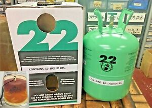 R22 Refrigerant 10lb Cylinder Virgin Pure made In Usa Free Shipping Kit 324
