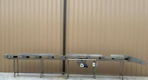 18 X 27 Long Stainless Food Conveyor With Speed Controller