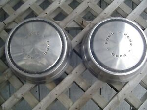 Two Vintage Ford 16 In Pickup Truck Center Cap Hubcap Wheel Cover Fomoco 3 4 Ton
