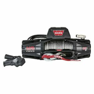 Warn 103255 Vr Evo 12 S 12 000 Lb Winch With Synthetic Rope For Truck Jeep Suv