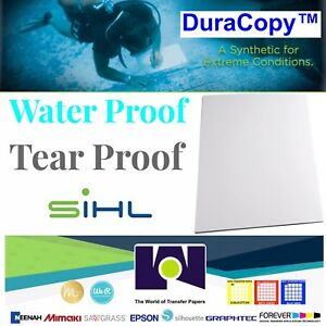 Water Proof Copy Paper Duracopy 8 Mil Synthetic 100 8 5 x11 Sh Free Shipping