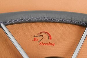 For Ford Crown Victoria 93 95 Perf Leather Steering Wheel Cover Royal Blue 2 Sti