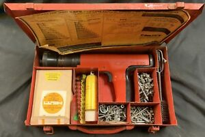Hilti Dx 350 Ramset Powder Actuated Fastener Systems Nail Gun Kit With Case