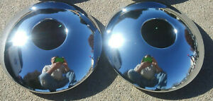 Set Of 2 Baby Moons Open Center Hub Cap Smoothies Clip Retention