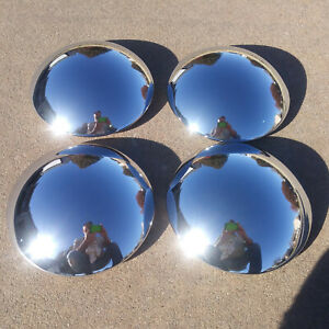 Four Baby Moons Hub Center Cap Clip Retention Smoothies Moon Hot Rod Vintage