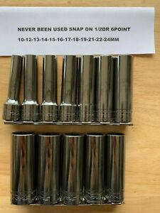 Snap On 1 2 Socket Set Metric Deep 6 Point