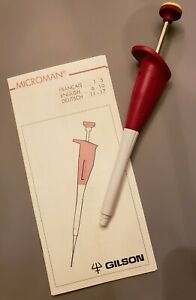 Gilson M25 Microman Positive Displacement Pipette Pre owned