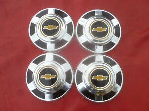 Vintage 1973 Chevy Pick Up Truck Dog Dish Poverty 12 Hubcaps Wheel Covers
