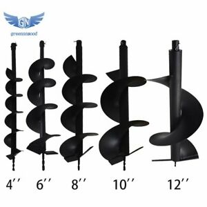 4 6 8 10 12 Earth Auger Drill Bits For Gas Powered Post Fence Hole Digger