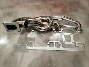 Single Turbo Manifold Header T4 V8 318 340 360 La 5 2l 5 9l Magnum Dodge Mopar